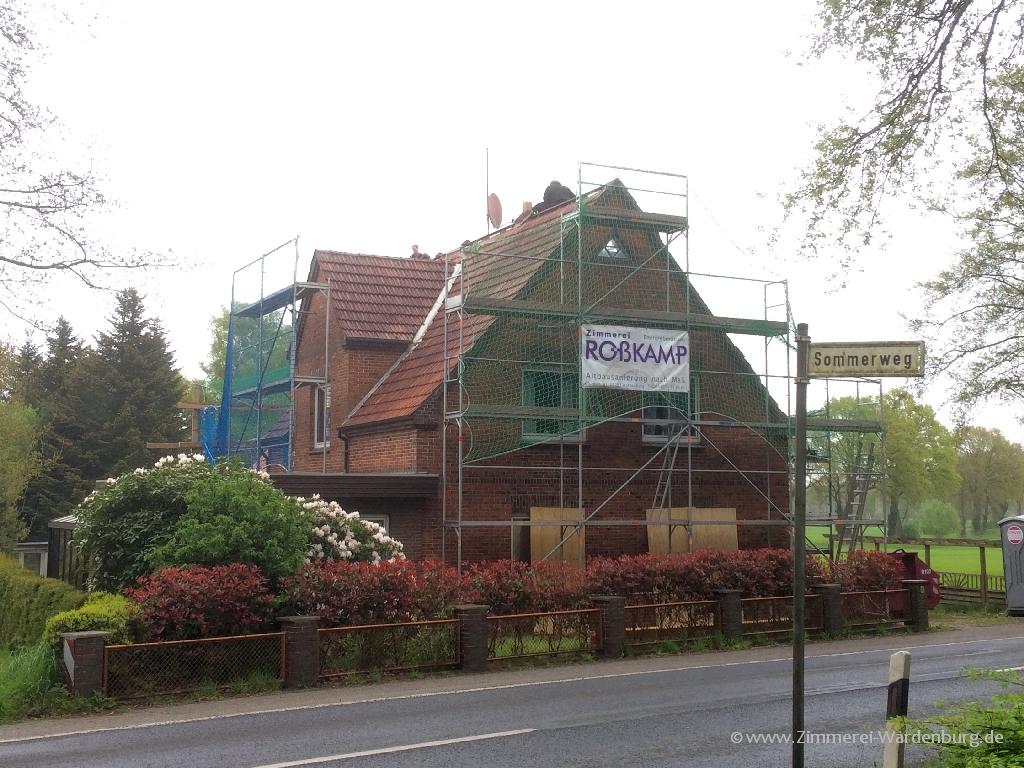 Vorher: Dachsanierung Einfamilienhaus Zimmerei Karsten Roßkamp Wardenburg LK Oldenburg
